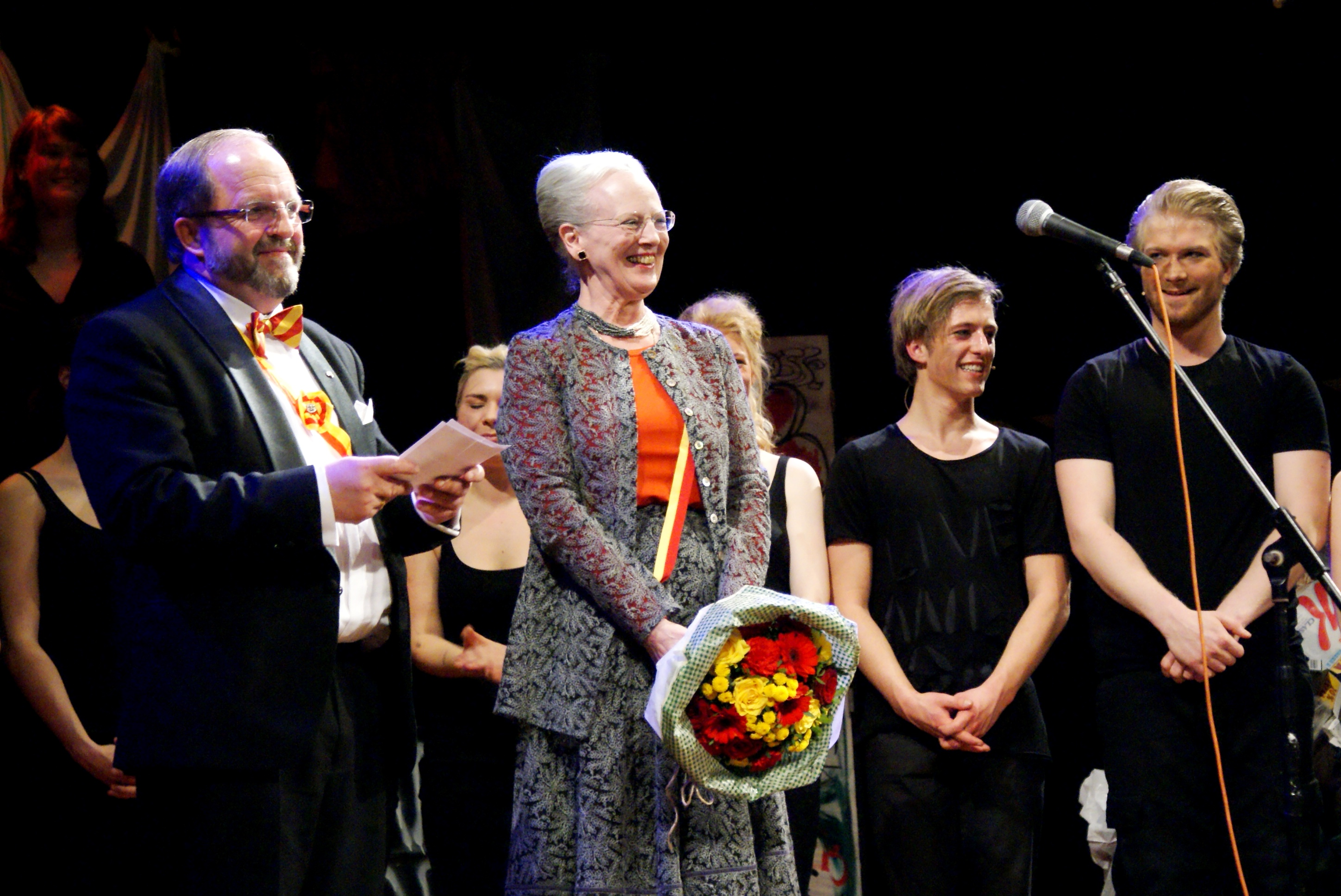 dronning margrethe paa scenen